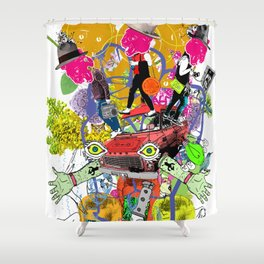 Select Collision Shower Curtain