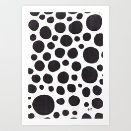 Blup Poster Patterns Art Print