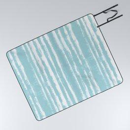 Shibori Stripe Seafoam Picnic Blanket