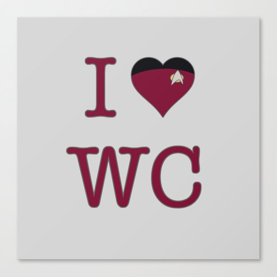 I Heart Wesley Crusher Canvas Print