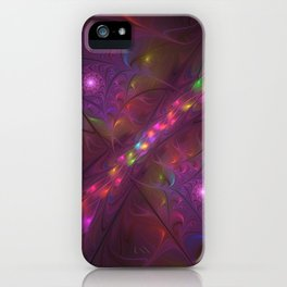 Colorful And Luminous Fractal Art iPhone Case