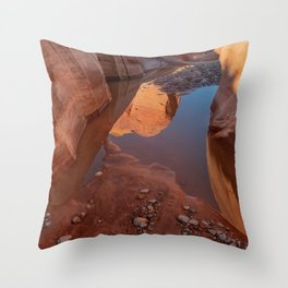 After the Rain - II, Valley_of_Fire Canyon, NV Throw Pillow