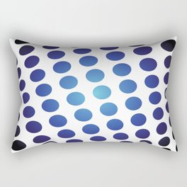 BLACK AND BLUE CIRCLES Abstract Art Rectangular Pillow
