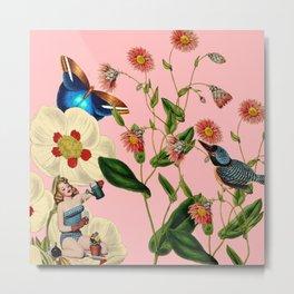 Big Flowers dream pink Metal Print
