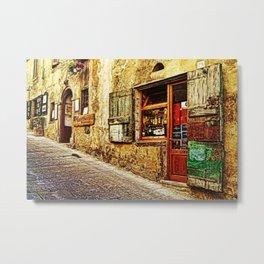 Tuscany, Italy Street Scene Metal Print
