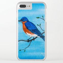 Blue Skies Bluebird Clear iPhone Case