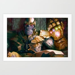 Thanos: Infinity Gauntlet  Art Print