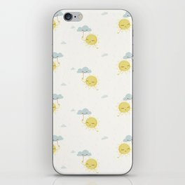 Little Sun white iPhone Skin