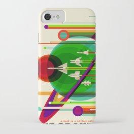 NASA Space Saturn Shuttle Retro Poster Futuristic Explorer iPhone Case