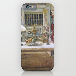 Getting Ready For A Game - Carl Larsson iPhone Case