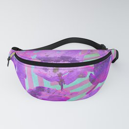 Boho Feather Zig Zag Collage | Watercolor Feather Art Print | Pink Purple Fanny Pack