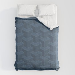 Bauhaus Weathered Concrete in Blu - Small Comforters