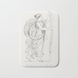 Bacchante carrying a wreath from An  of the Egyptian Grecian and Roman costumes by Thomas Baxter (17 Bath Mat