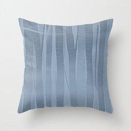 Woodland -  Minimal Blue Birch Forest Throw Pillow