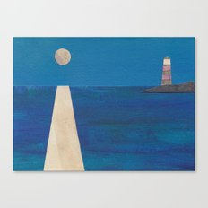 Moon Light House Canvas Print