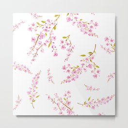 Cherry Blossoms floral Metal Print