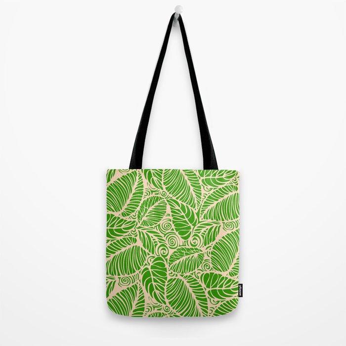 Summer Leaves Green Tote Bag