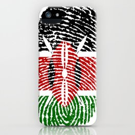Kenya Flag Finger Print iPhone Case