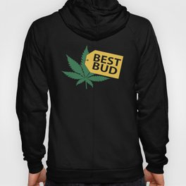 Best Bud Store Joke Pot Weed Smoke High Vape Marijuana Leaf Funny Vape Hoody