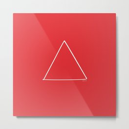 Fire - Minimal FS - by Friztin Metal Print