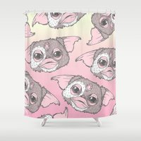 gizmo Shower Curtains featuring Gizmo by lOll3