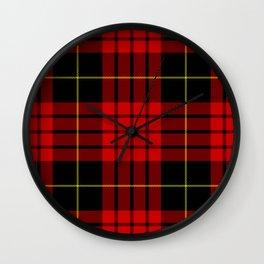 MacQueen tartan (Vestiarium Scoticum) Wall Clock