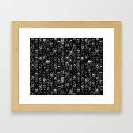 Seltzer Crazy Black Framed Art Print