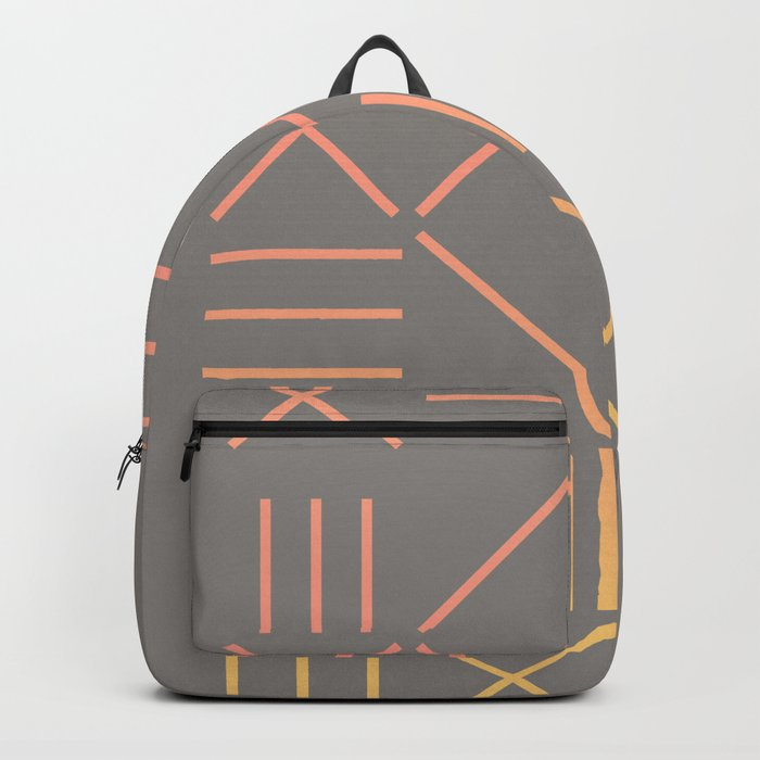 Geometric Shapes 12 Gradient Backpack