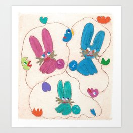 Rabbits' World Art Print