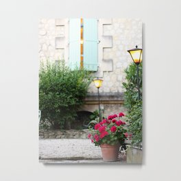 Provence Terrace Metal Print
