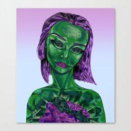 Emerald Gemstone Girl Canvas Print