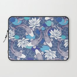 Blue Koi Ripples Laptop Sleeve
