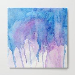 Blue & Purple Watercolor Metal Print