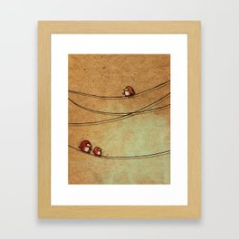 Rustic Bird Print, Country, Chic Look Framed Art Print