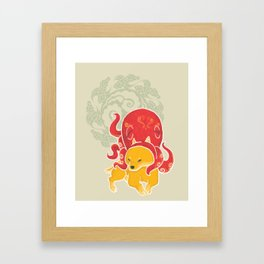 Octopus Funny Dog Costume - Sea Collection Framed Art Print
