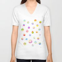 dot V-neck T-shirts featuring Dot Dot Dot by Yiying Lu