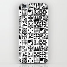 Black and White Abstract Squares iPhone & iPod Skin
