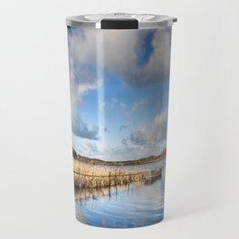 Blue Reflections Travel Mug
