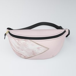 Blush pink geo - pink marble Fanny Pack