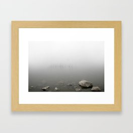 Fog Lake Framed Art Print