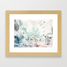 Blue Watercolor Framed Art Print