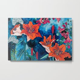 Blooming Night Garden: Twilight Metal Print