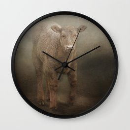 Baby Calf Wall Clock