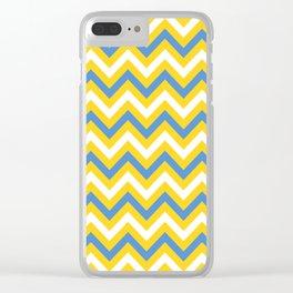 Tricolor Chevron 2 - more colors Clear iPhone Case