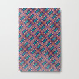 harlequin abstract colorful background Metal Print