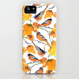 Birds in Autumn iPhone Case