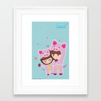 suits Framed Art Prints featuring Piggy-Suits by I love Bubbah