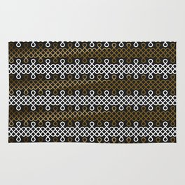 Endless Knot pattern - Gold & white Rug