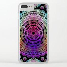 Zen Mantra Mandala Clear iPhone Case