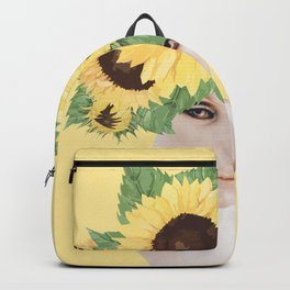 Sunflower head / Mannequin collage Backpack